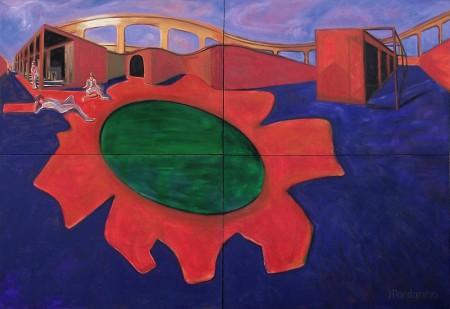 """Quadriptych, en """"Observación del tiempo"""", 1997"""