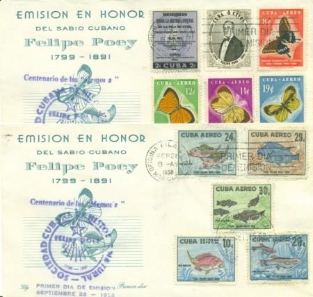 Homenaje al naturalista Felipe Poey http://echenastamps.com/