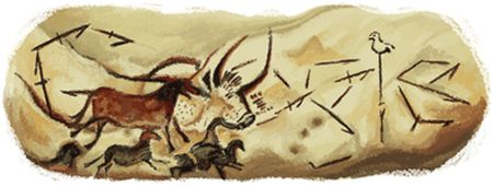 Doodle con motivo del 70 aniversario del descubrimiento de las cuevas de Lascaux (20/9/2010)