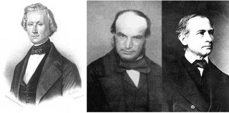 Urbain Le Verrier, John Couch Adams y Johann Gottfried Galle