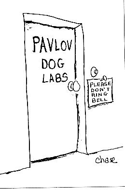 Laboratorio de los perros de Pavlov. Por favor, no tocar.