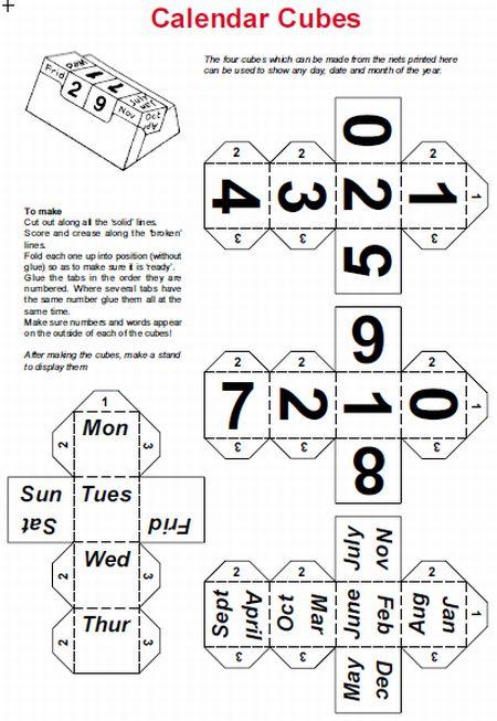Calendar Cubes 2015