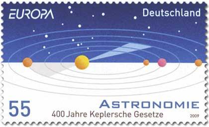 Más detalles Sello alemán de 2009 conmemorando el 400 aniversario de las dos primeras leyes de Kepler