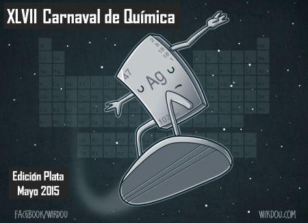 Logo del XLVII Carnaval de la Química. La imageb es Silver Surfer de Wirdou