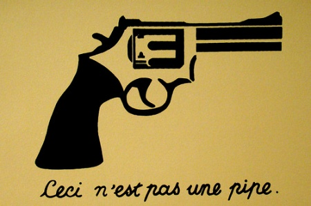 "Carlos Barberena,  ""Ceci n'est pas une pipe"" (after Magritte)"