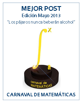 Premio a la Mejor Entrada de la Edición 4.1231 del Carnaval de Matemáticas.