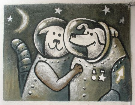 Grafitti con Belka and Strelka (2008)
