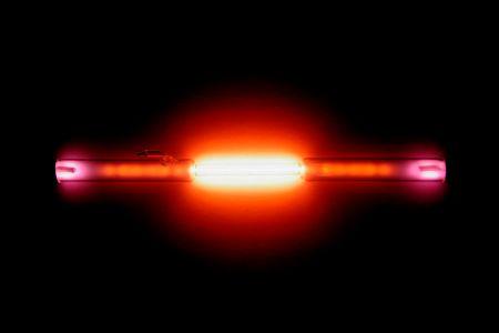 Líneas espectrales de helio.