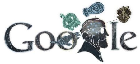 Doodle con motivo del 155 aniversario del nacimiento de Konstantin Tsiolkovsky (2012)