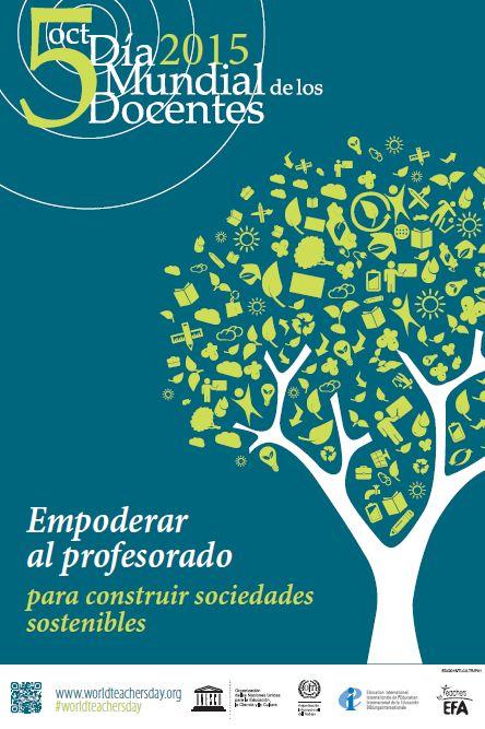 Cartel Día Mundial de las y los Docentes