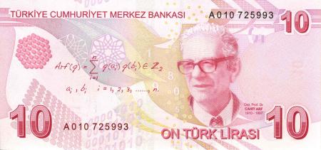 Billete de 10 liras turcas