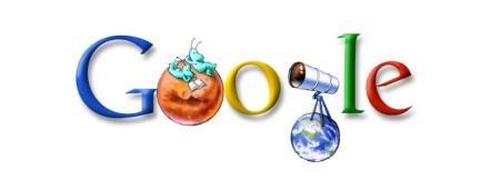 Doodle con motivo del 151 aniversario del nacimiento de Percival Lowell (2006)