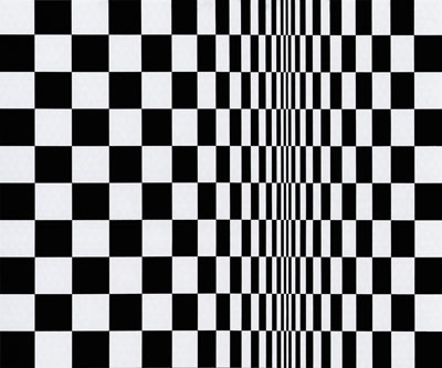Bridget Riley, Movement in Squares, 1961.
