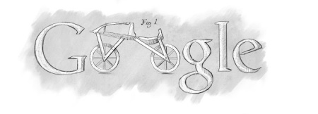 Doodle por el 225 aniversario del nacimiento de Karl Drais (2010).