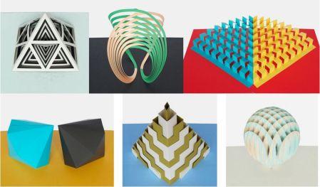 Las seis esculturas.