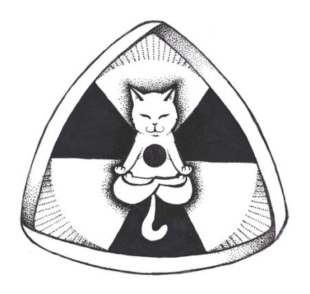 Schrödinger's cat playing with Möbius band, part 2. ©Anastasis.
