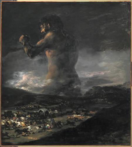 Imagen 4. El coloso atribuido a Goya o a un seguidor de Goya (1818(?) – 1825, 116 x 105 cm). Fuente: Museo del Prado.