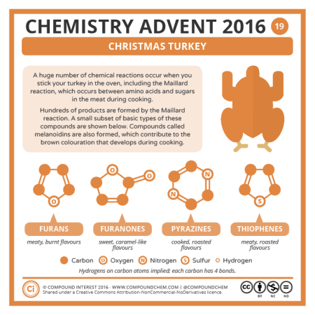 Christmas Turkey Chemistry. © Compound Interest.