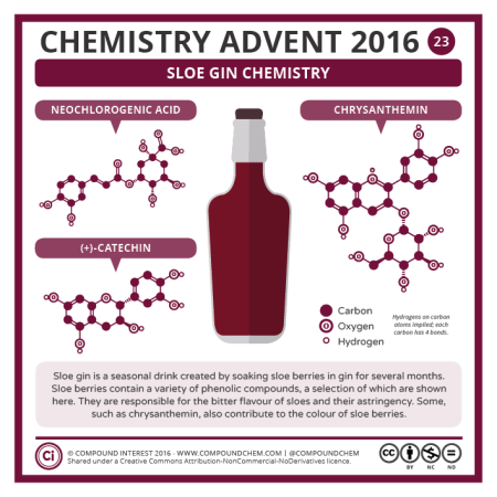 Sloe Gin Chemistry. © Compound Interest.